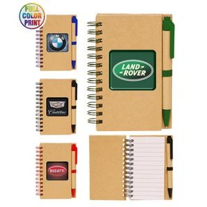 Eco Spiral Notebook w/Pen - Full Color