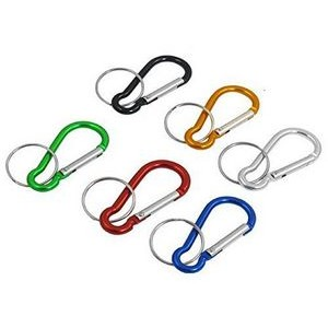 Carabiner with Metal Keychain Ring