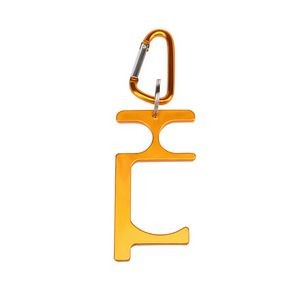 EDC Non Touch Key Chain Door Opener with Carabiner