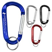 """Cara L"" Large Size Carabiner Keyholder w/Split Ring Attachment"