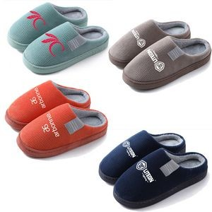 Autumn Winter Indoor Warm Plush Household Shoes