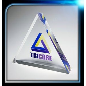 "Executive Series Triangle Paperweight (4""x4""x3/4"")"