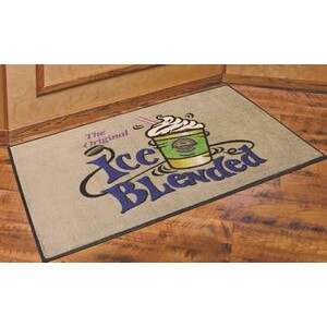 DigiPrint™ Nylon Indoor Carpeted Logo Mat w/Rubber Backing (4'x6')