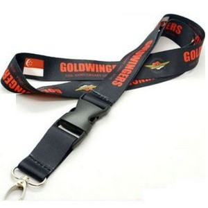 3/4'' Dye Sublimation Lanyard w/ Buckle Release