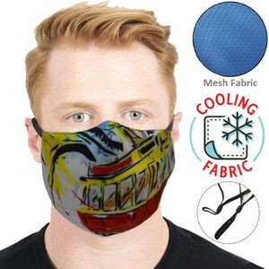 2-Layer Cooling Face Mask w/ Full Color Antibacterial Masks